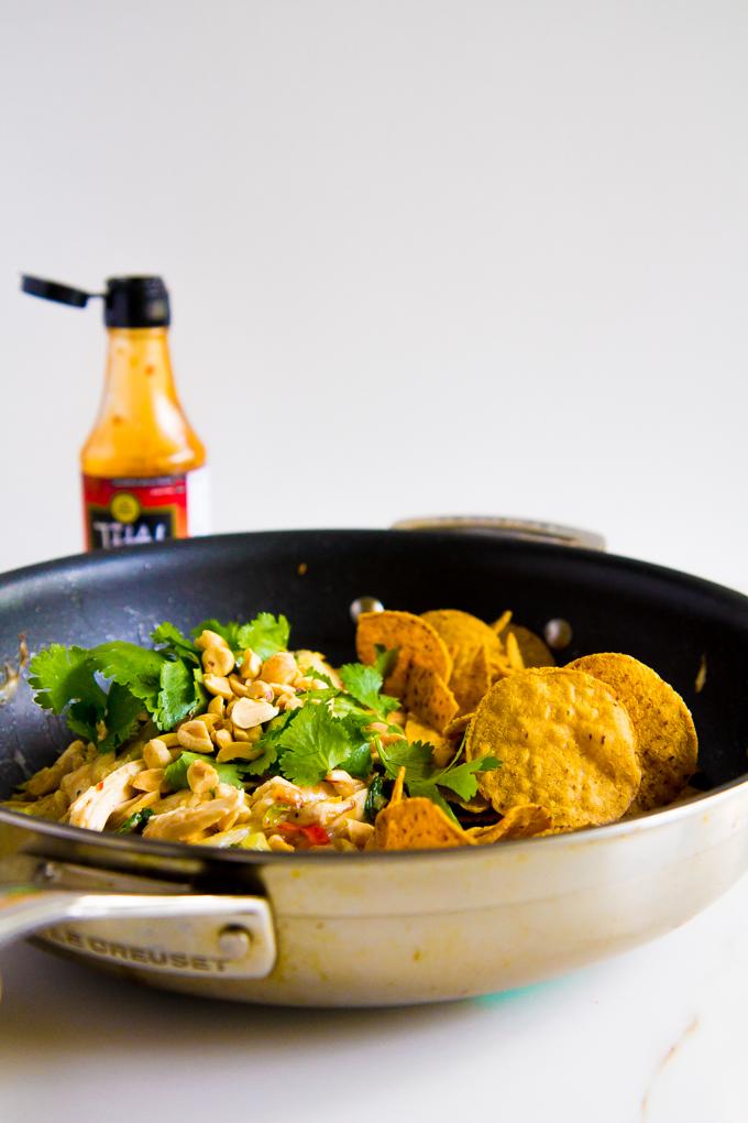 thai chicken chilaquiles \\ immaEATthat