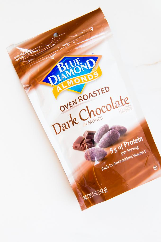 Blue Diamond Dark Chocolate Almonds \\ immaEATthat