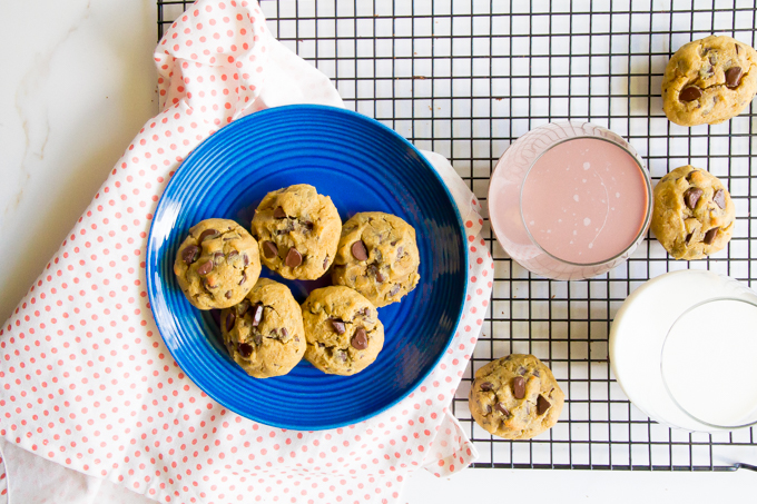 perfect coconut flour chocolate chip cookies \\ immaEATthat.com
