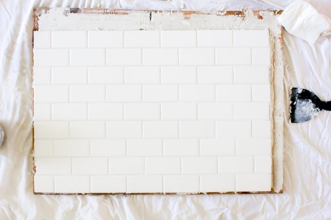DIY subway tile backsplash backdrop| immaEATthat.com