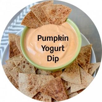 24 pumpkin yogurt dip