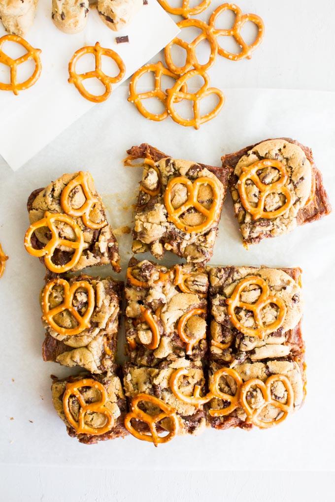Pumpkin Date Caramel Cookie Bars | immaEATthat