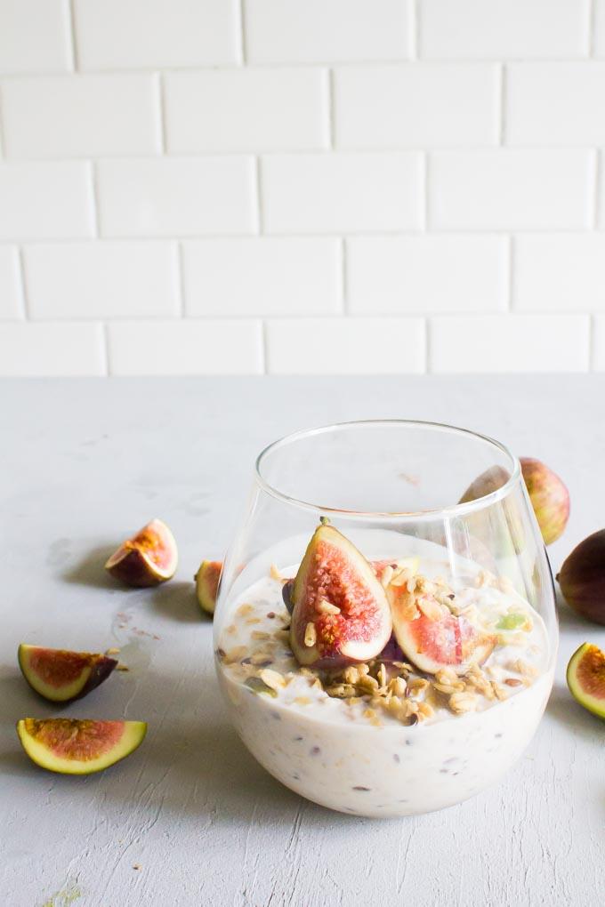 pumpkin flax granola overnight oats   immaEATthat.com