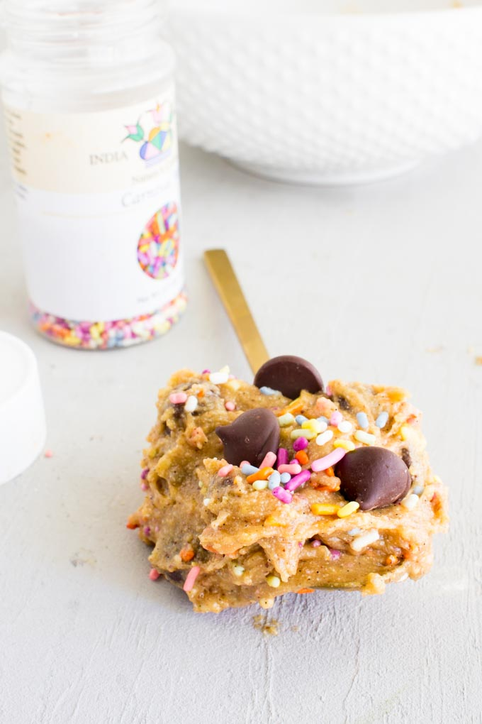 protein cookie dough for ONE! | immaEATthat.com