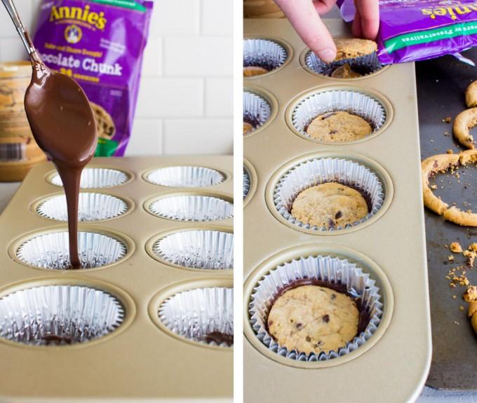 cookie stuffed peanut butter cups | immaEATthat.com