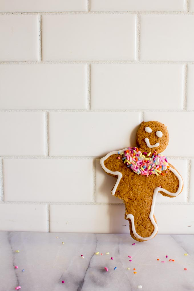 whole wheat gingerbread cut out cookies | immaEATthat.com