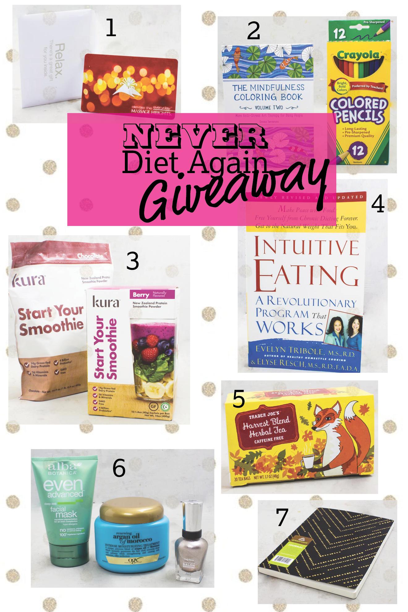 Mindful Eating Giveaway (aka never diet again) | immaEATthat.com