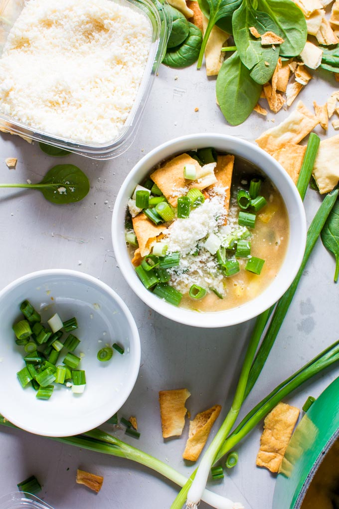 Parmesan Bean and Chicken Sausage Soup | immaEATthat.com