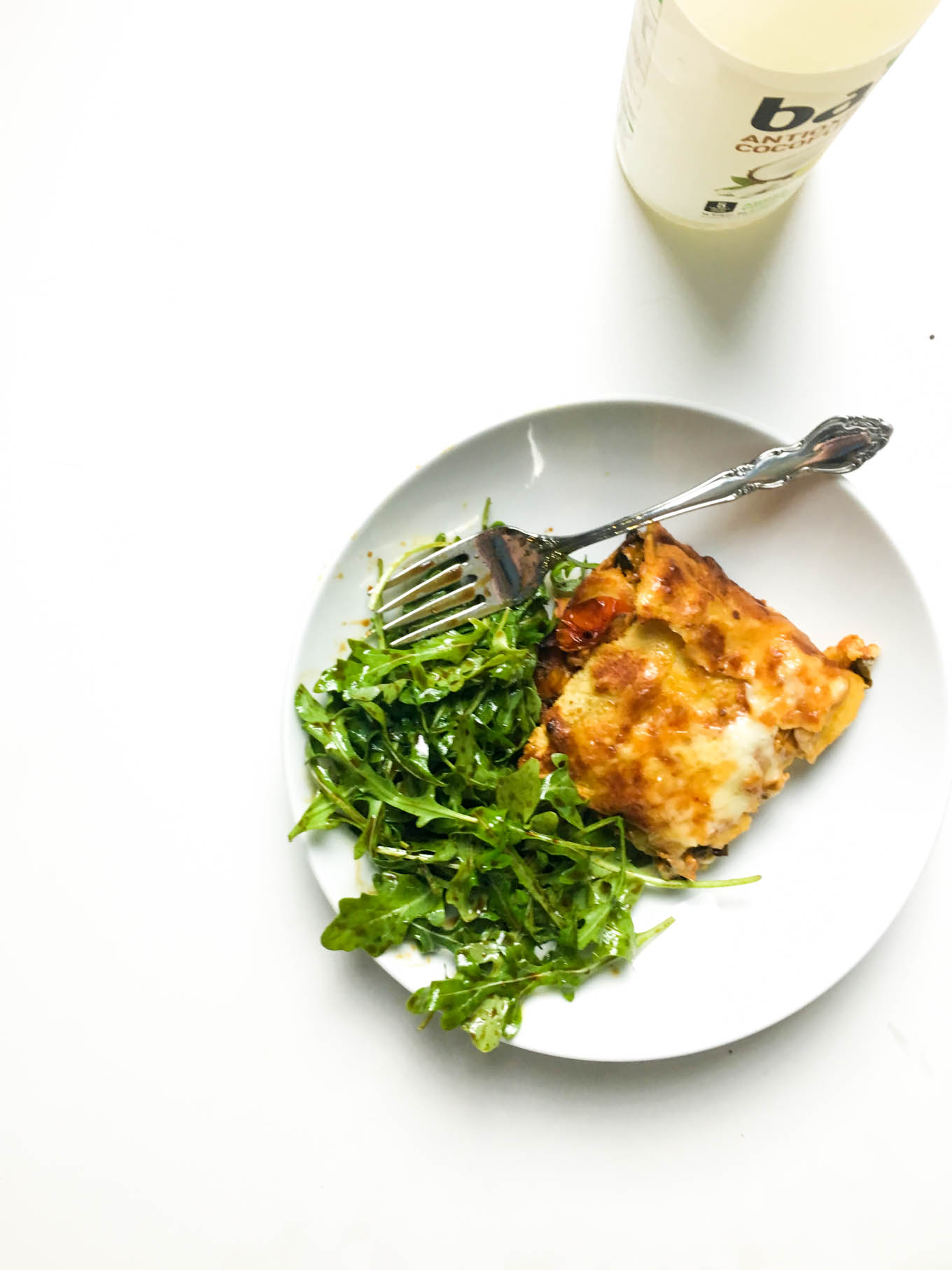 leftover enchiladas + arugula salad | immaEATthat.com