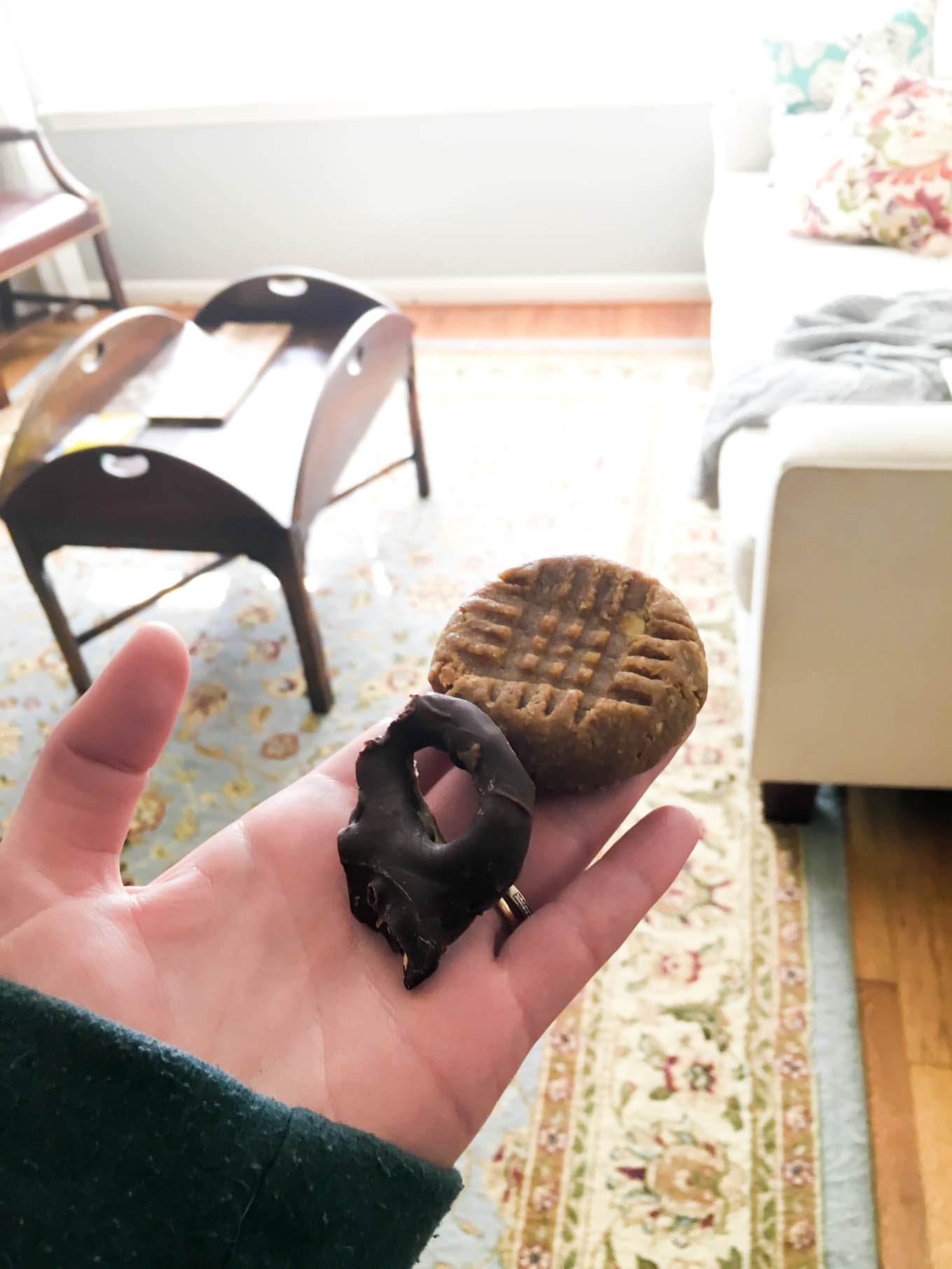 peanut butter cookie + pretzel