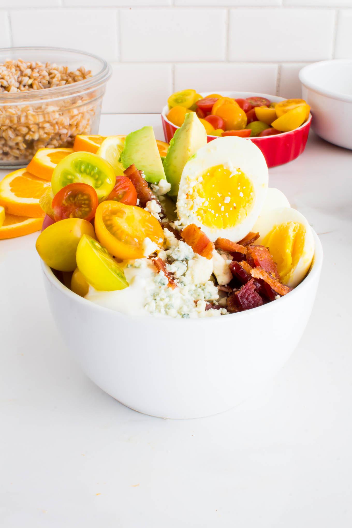 Farro Cobb Salad Bowls | immaEATthat.com