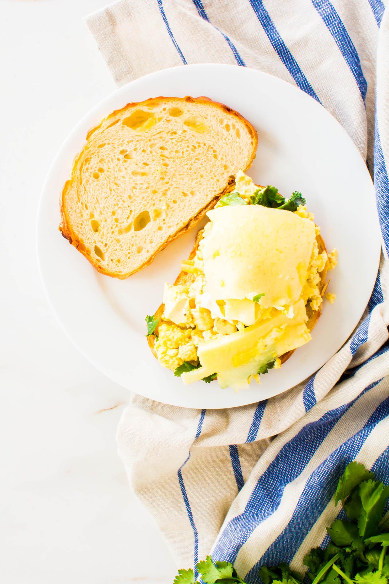 tofu scramble breakfast sandwich   immaEATthat.com