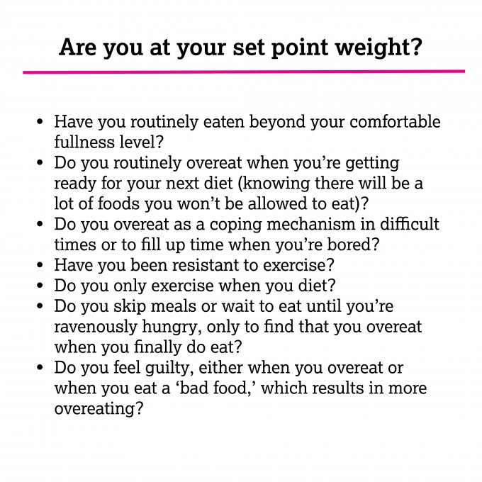 are you at your set point weight? | immaEATthat.com
