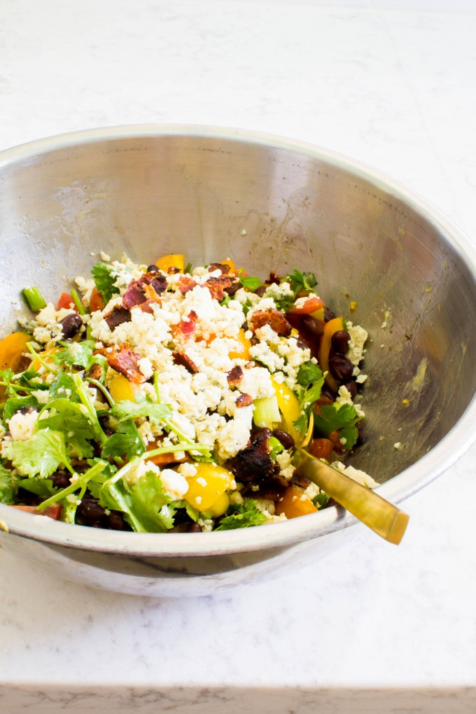 bacon, blue cheese & pineapple farro goodness | immaEATthat.com