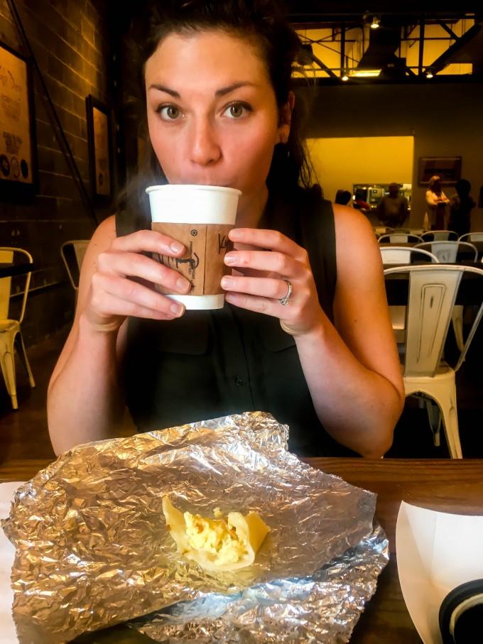 breakfast tacos, latte, church.   immaEATthat.com