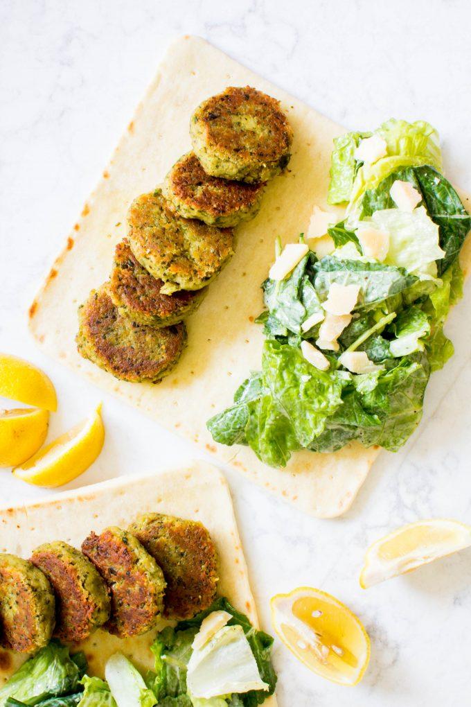 falafel caesar salad sandwich | immaEATthat.com