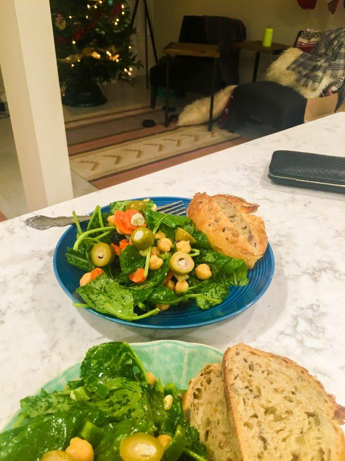 salad + bread = dinner