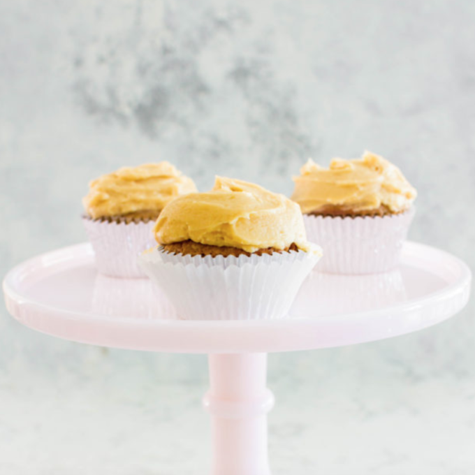 Spiced Apple Cupcakes with Caramel Buttercream